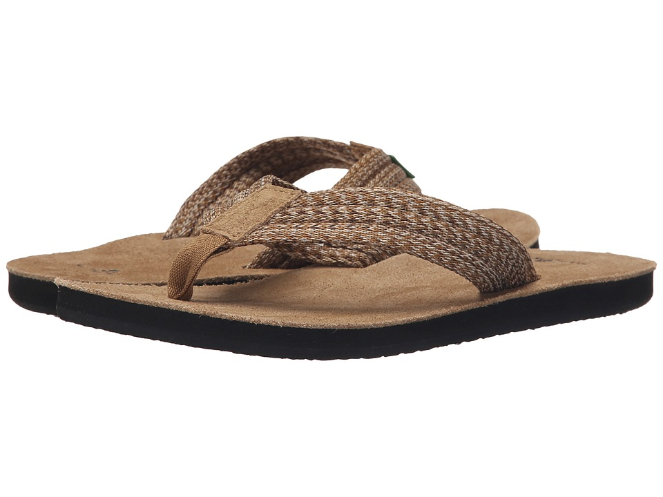 Sanuk - Fraid Webbing (Multi Brown) Men