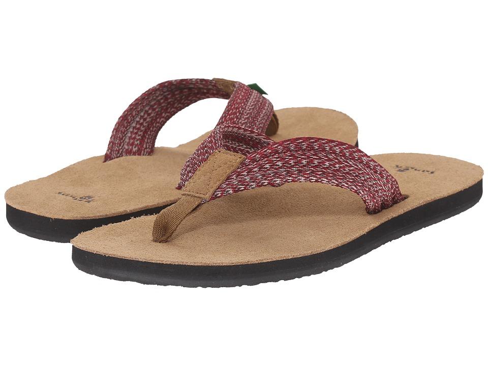 Sanuk Fraid Webbing Multi Red Mens Sandals