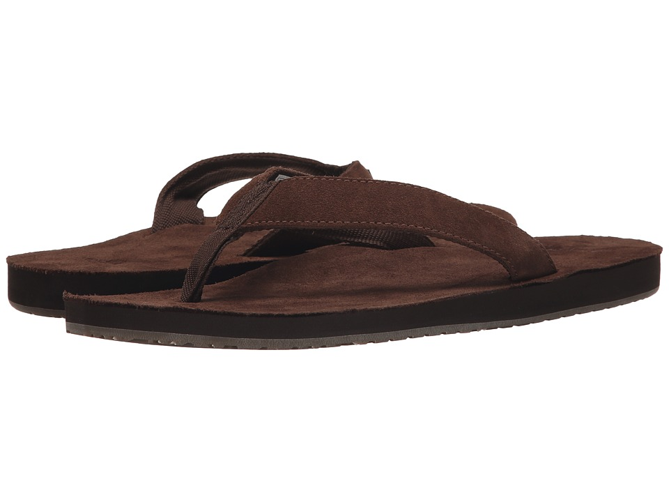 Sanuk Fraid Suede Brown Mens Sandals