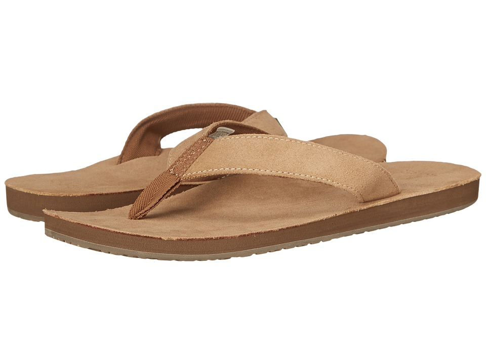 Sanuk Fraid Suede Tan Mens Sandals