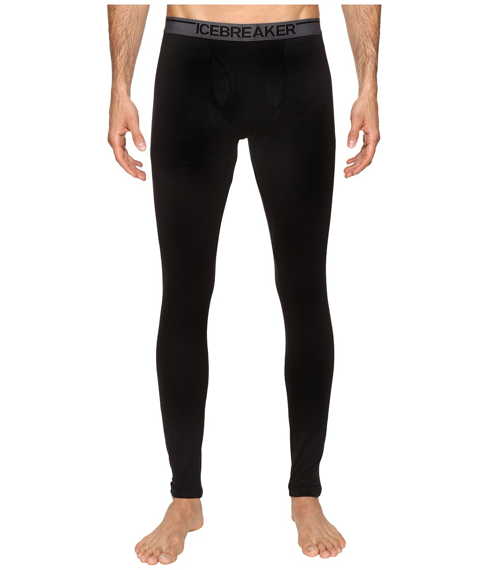 Icebreaker Anatomica Leggings w Fly (Black/Monsoon) Men