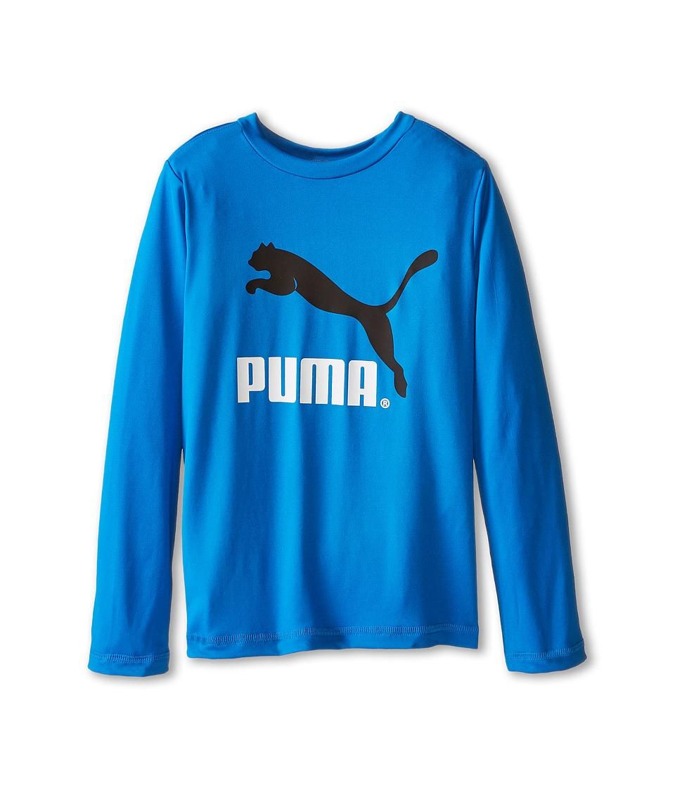 Puma Kids - No.1 Long Sleeve Logo Tee (Little Kids) (Sky Blue) Boy