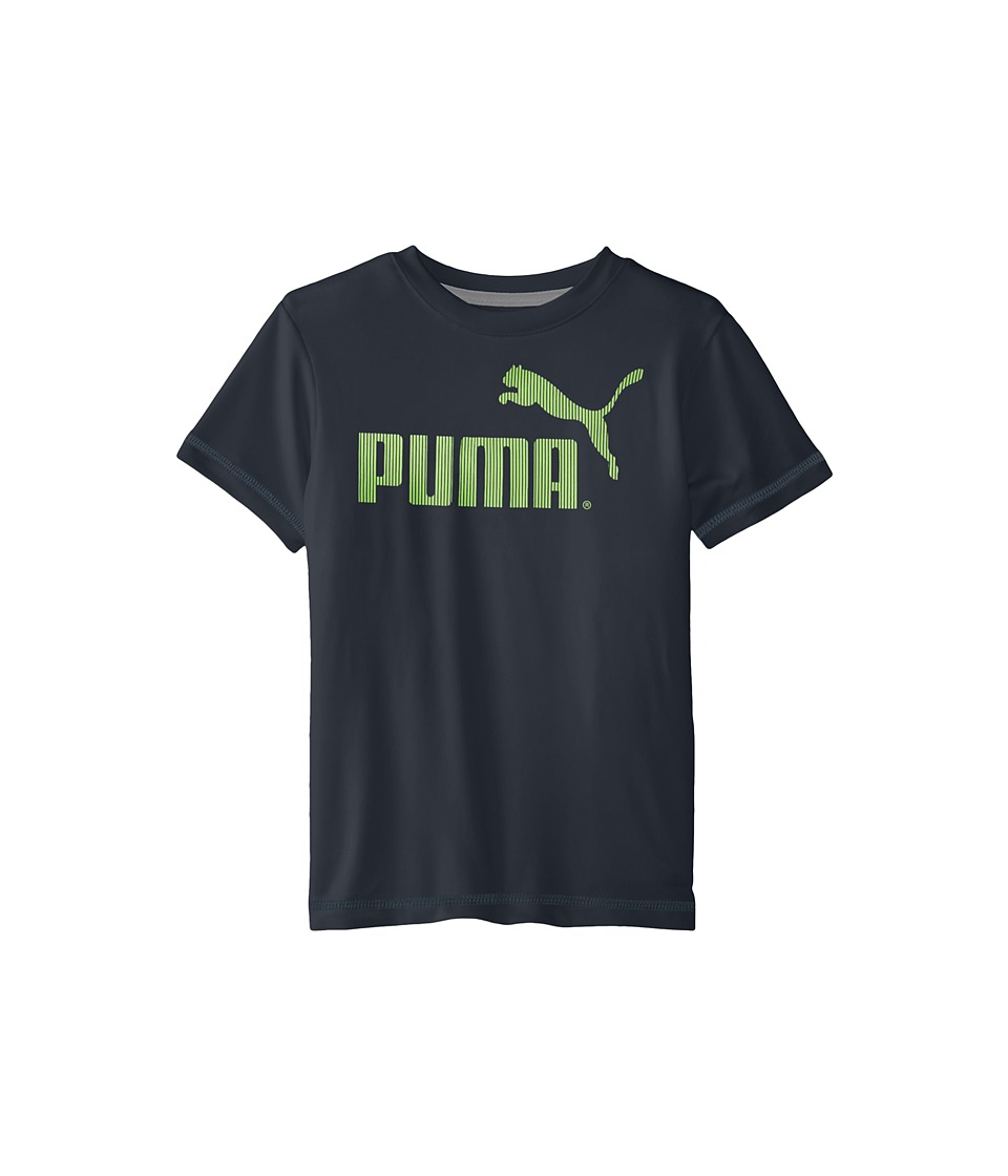 Puma Kids No.1 Logo Tee (Little Kids) (Charcoal) Boy