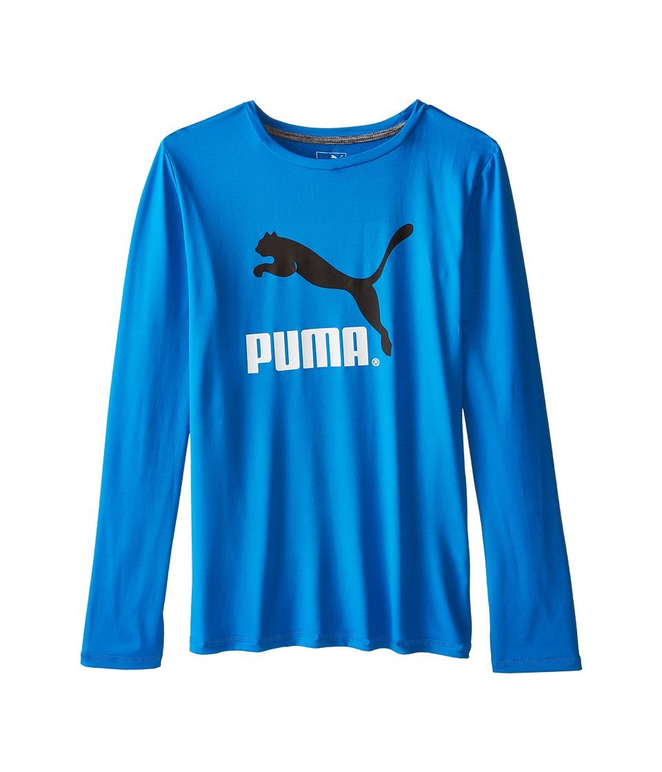 Puma Kids - No.1 Long Sleeve Logo Tee (Big Kids) (Sky Blue) Boy