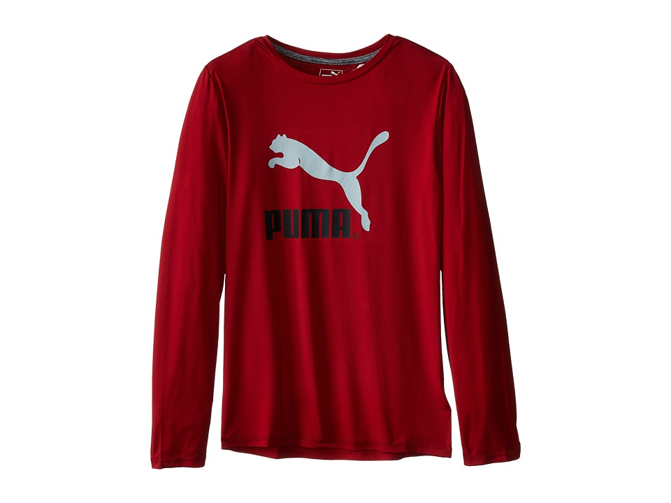 Puma Kids No.1 Long Sleeve Logo Tee (Big Kids) (Scooter) Boy