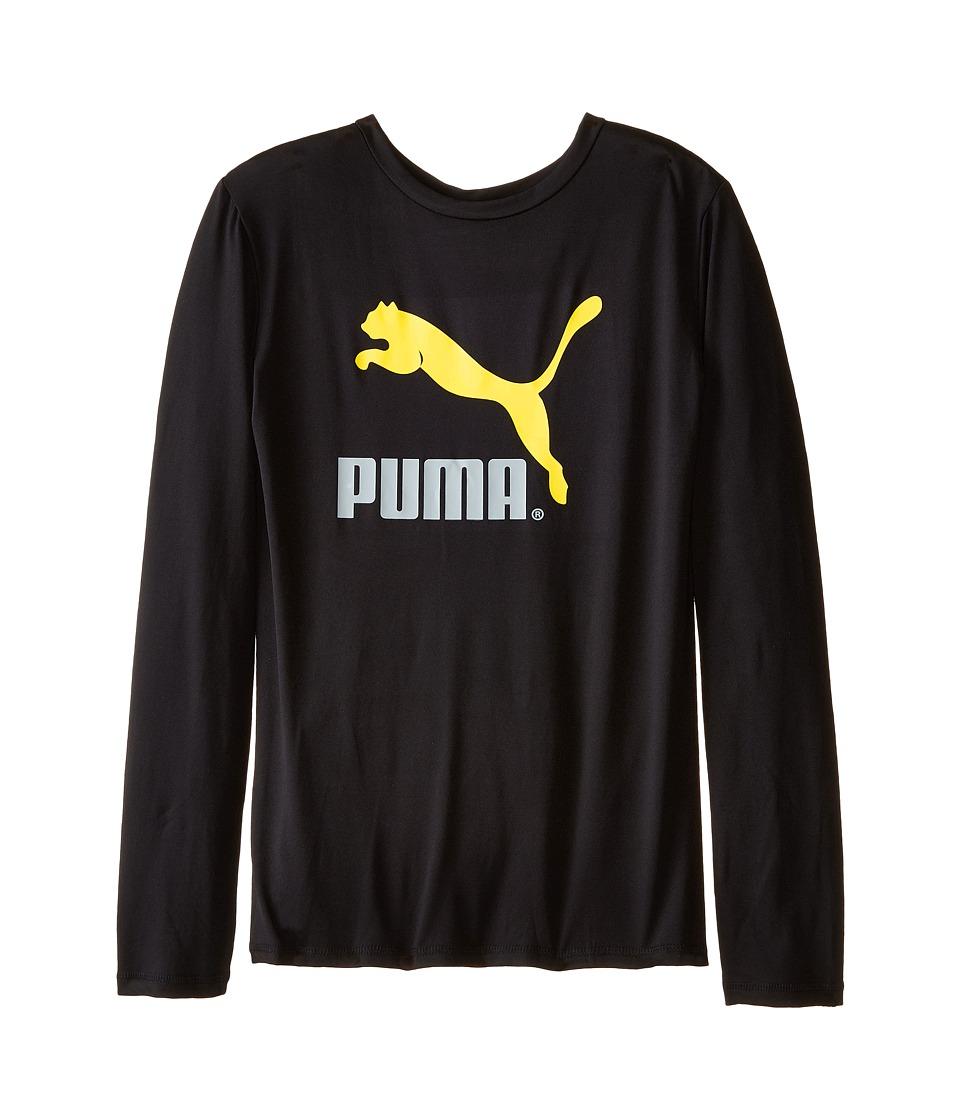 Puma Kids - No.1 Long Sleeve Logo Tee (Big Kids) (PUMA Black) Boy