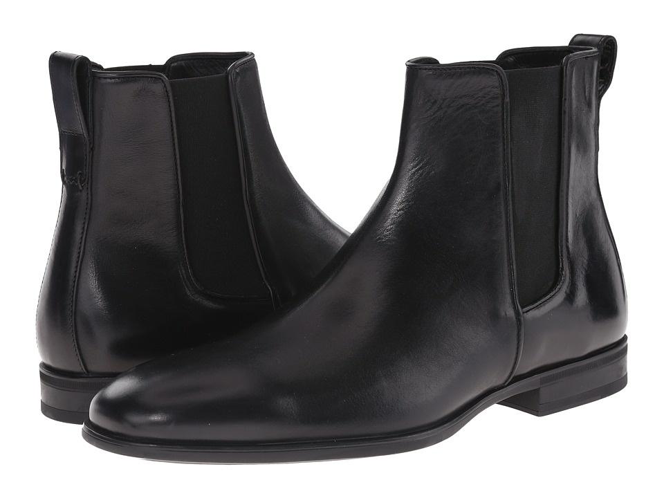 Aquatalia Adrian (Black Dress Calf) Men's Pull-on Boots
