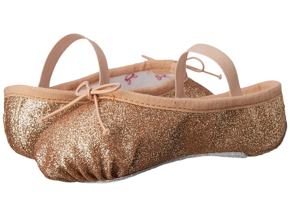 Bloch Kids Glitter Dust Ballet Slipper (Toddler/Little Kid) (Gold) Girl's Shoes