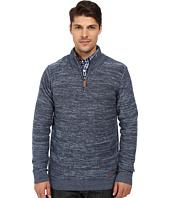 London Fog - 1/4 Zip Marled Textured Sweater