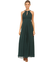 Eliza J - Beaded Neck Band Chiffon Dress