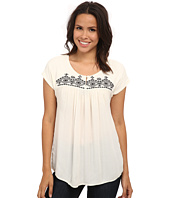 Lucky Brand - Geo Embroidered Top