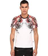 Just Cavalli - Leo Print Shoulder Crew Tee