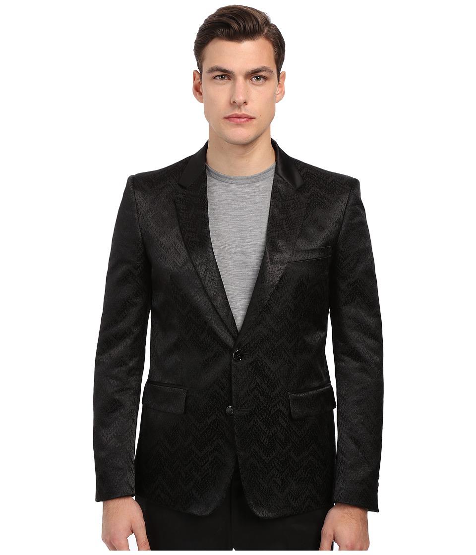 Just Cavalli Chevron Chain Jacquard Dinner Jacket Black Mens Jacket