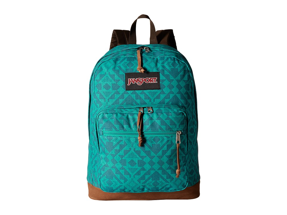 JanSport Right Pack Expressions Moonlight Teal Canvas Backpack Bags