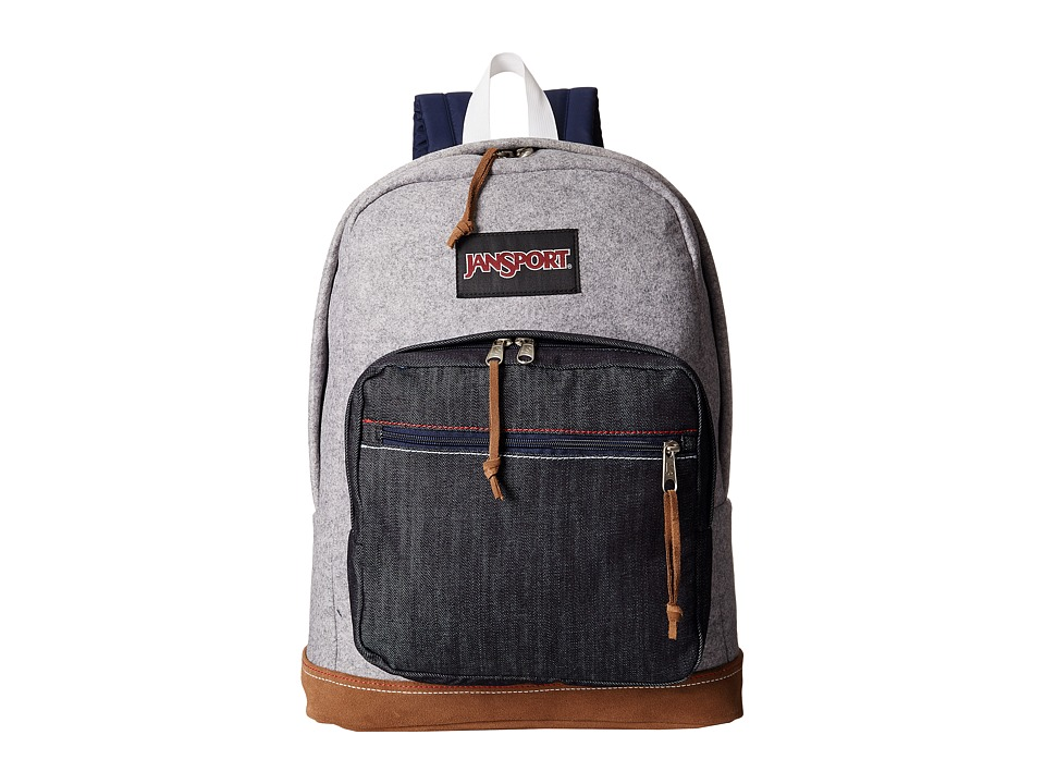 JanSport Right Pack Expressions Grey Varsity Felt Backpack Bags