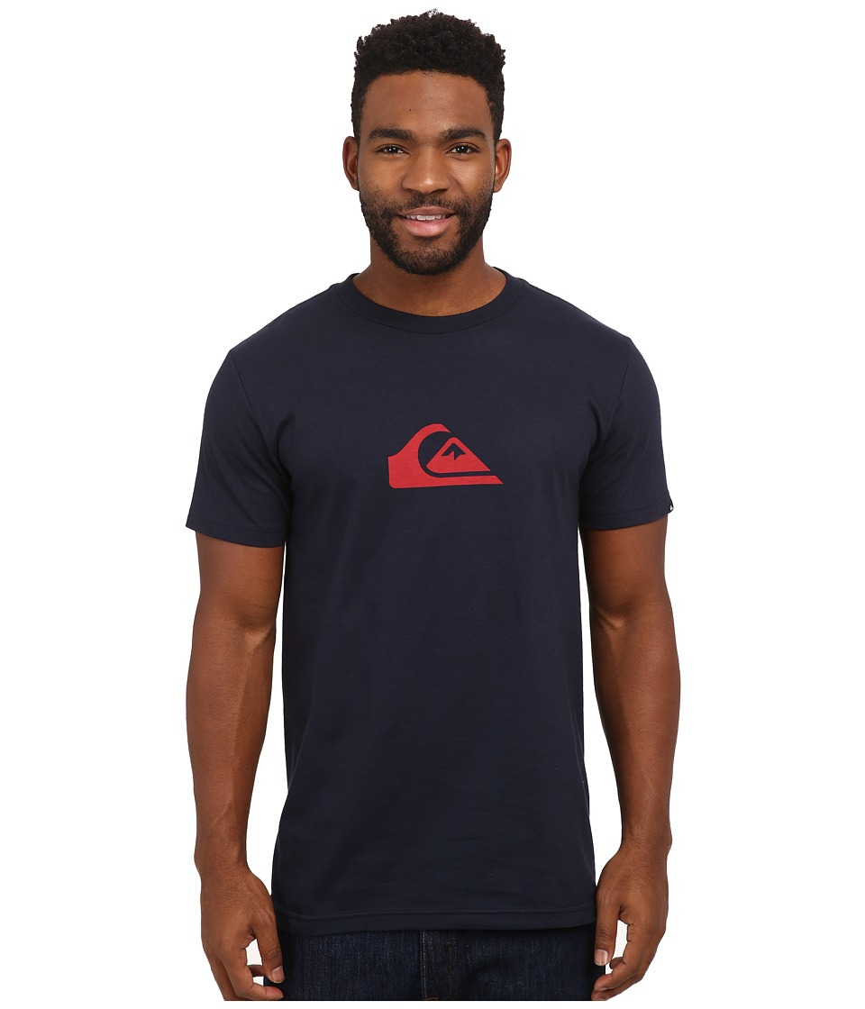 Quiksilver Everyday Logo Tee Navy Blazer/American Beauty Mens T Shirt