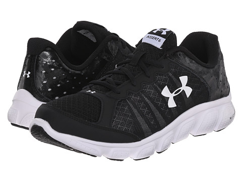 Under Armour Kids UA BGS Micro G™ Assert 6 (Big Kid) - Black/White/White
