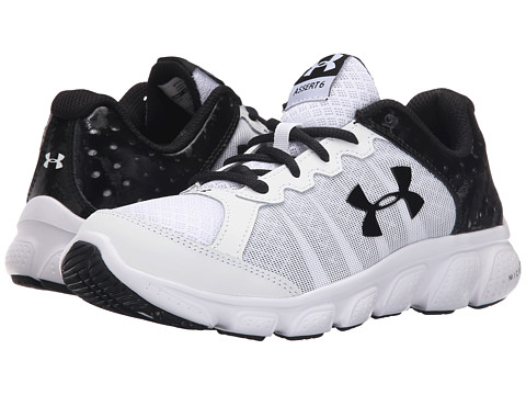 Under Armour Kids UA BGS Micro G™ Assert 6 (Big Kid) - White/White/Black