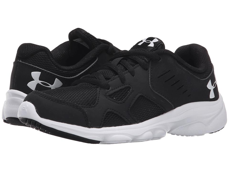 Under Armour Kids UA BGS Pace RN (Big Kid) (Black/White/White) Boys Shoes