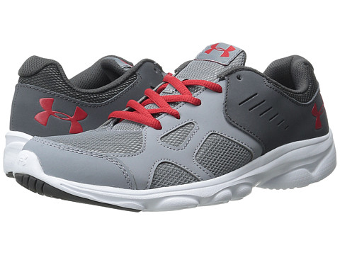 Under Armour Kids UA BGS Pace RN (Big Kid) - Steel/Charcoal/Red