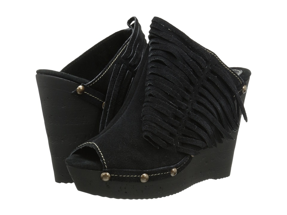 Sbicca Pitch Black Womens Wedge Shoes