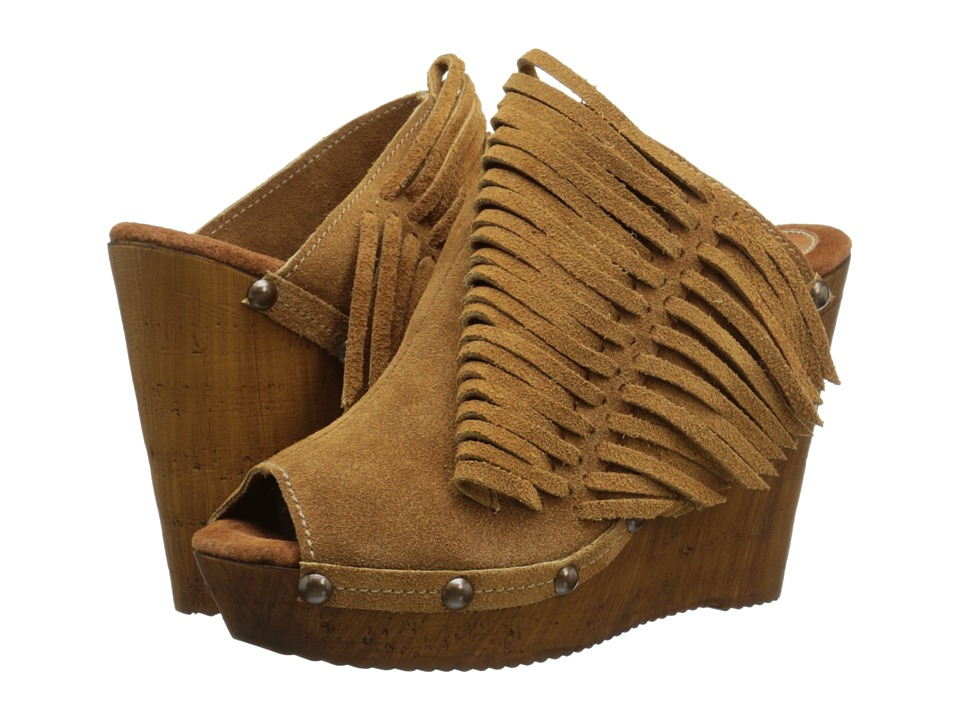 Sbicca Pitch Tan Womens Wedge Shoes