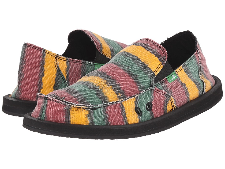 Sanuk - Donny (Rasta Watercolor Stripe) Men