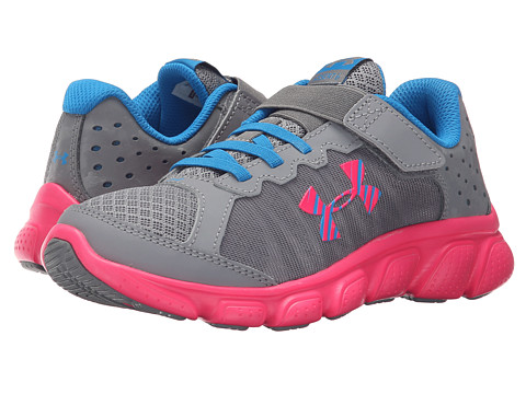 Under Armour Kids UA GPS Assert 6 AC (Little Kid) - Steel/Harmony Red/Electric Blue