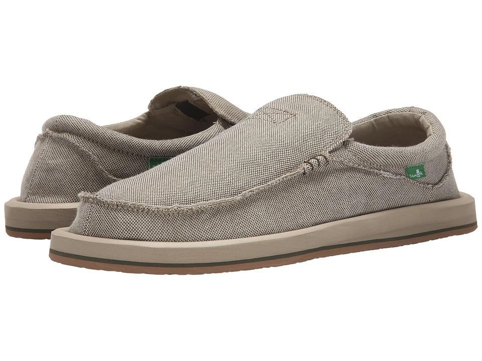 Sanuk Chiba TX Olive Mens Slip on Shoes