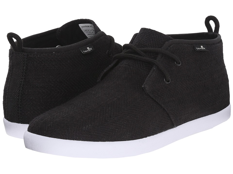 Sanuk Cargo TX Black Mens Lace up casual Shoes