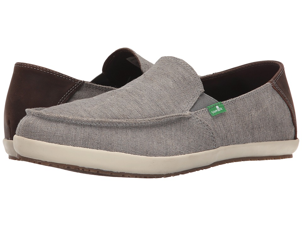 Sanuk Casa Vintage Grey Mens Slip on Shoes