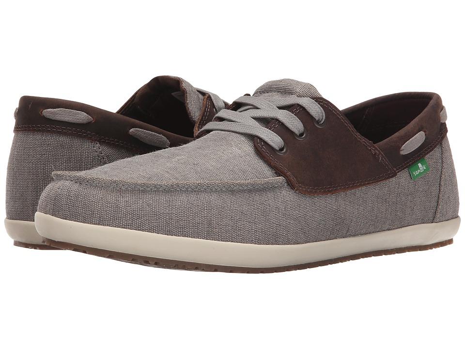 Sanuk Casa Barco Vintage Grey Mens Lace up casual Shoes