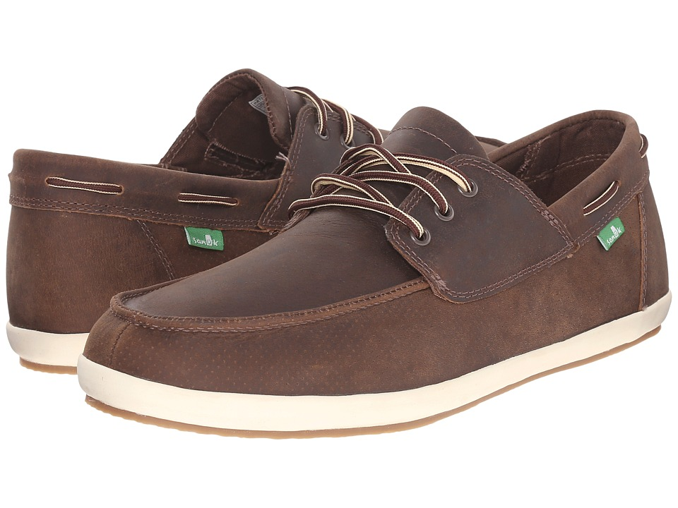 Sanuk Casa Barco Deluxe Brown Mens Lace up casual Shoes