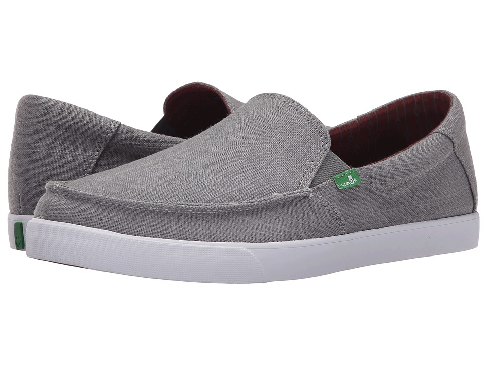 Sanuk - Sideline TX (Grey Linen) Men
