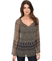 Lucky Brand - Green Ikat Top