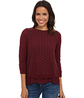 Lucky Brand - Mixed Media Pullover