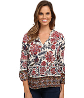 Lucky Brand - Bordered Scarf Top