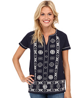 Lucky Brand - Circle Embroidery Top