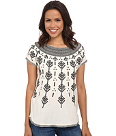 Lucky Brand - Graphic Embroidered Top