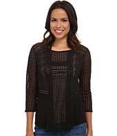 Lucky Brand - Lace Peasant Top