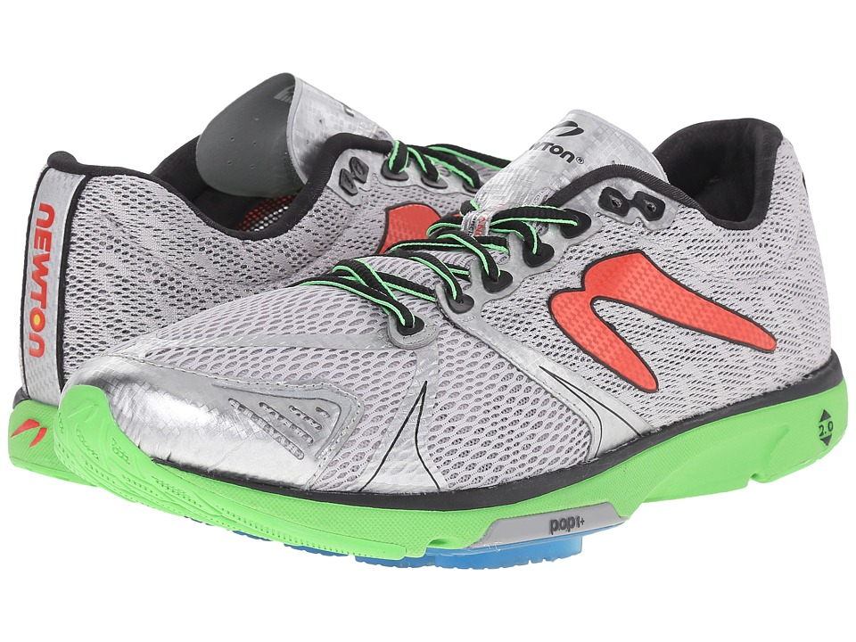 Newton Running Distance V Silver/Lime Mens Running Shoes