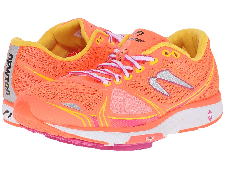 Newton Running Motion V Coral/Yellow Womens Running Shoes