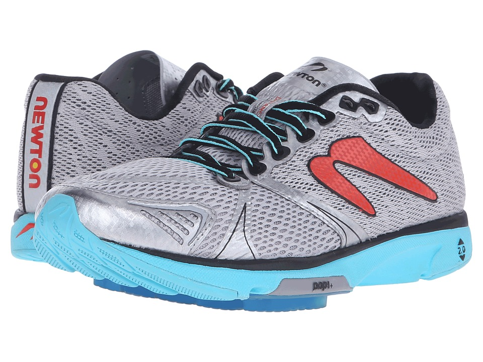 Newton Running - Distance V (Silver/Aqua) Womens Running Shoes