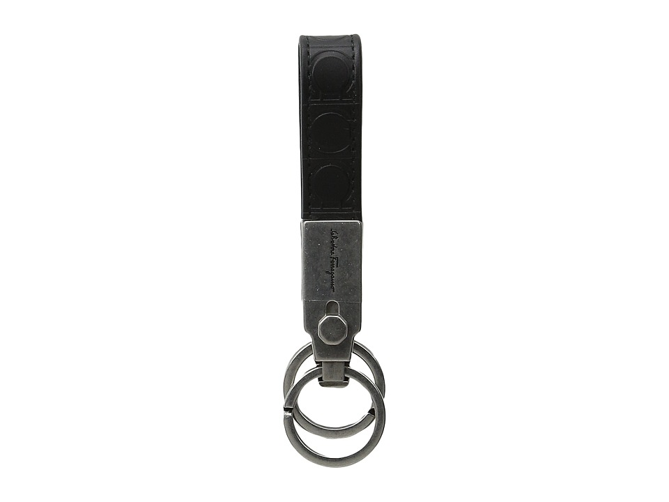 Salvatore Ferragamo Gamma Soft Key Fob 9405 Black Wallet