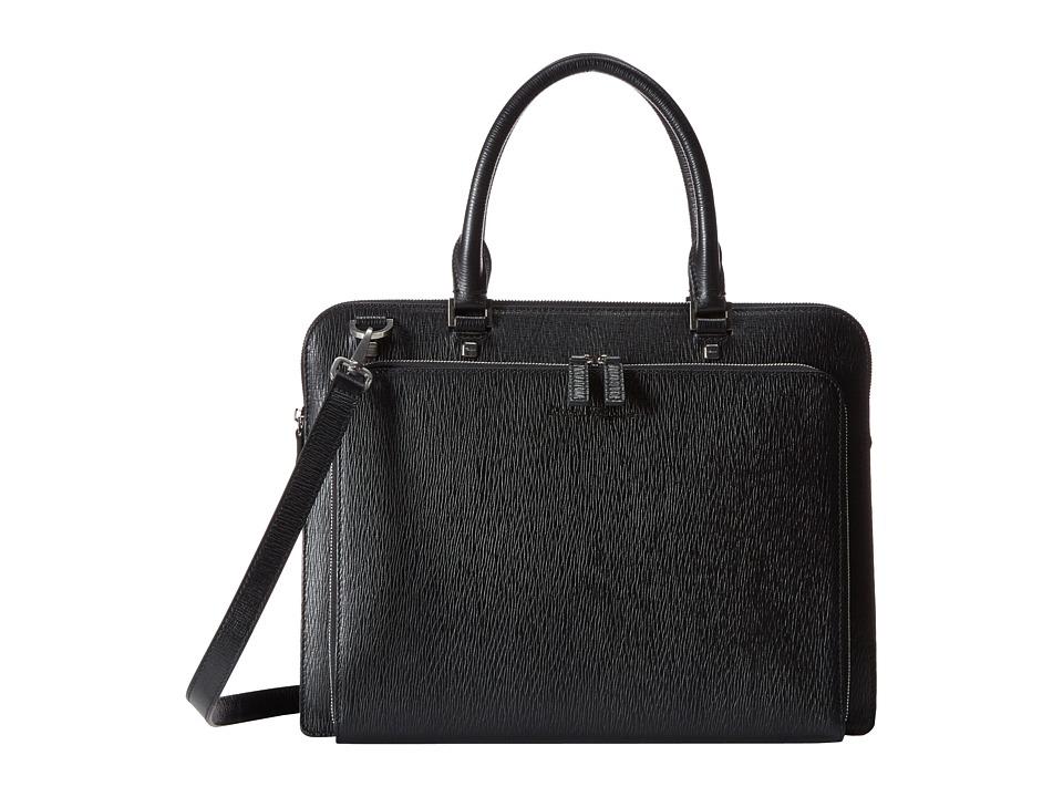 Salvatore Ferragamo Revival Gusset Briefcase 249967 (Nero) Briefcase Bags