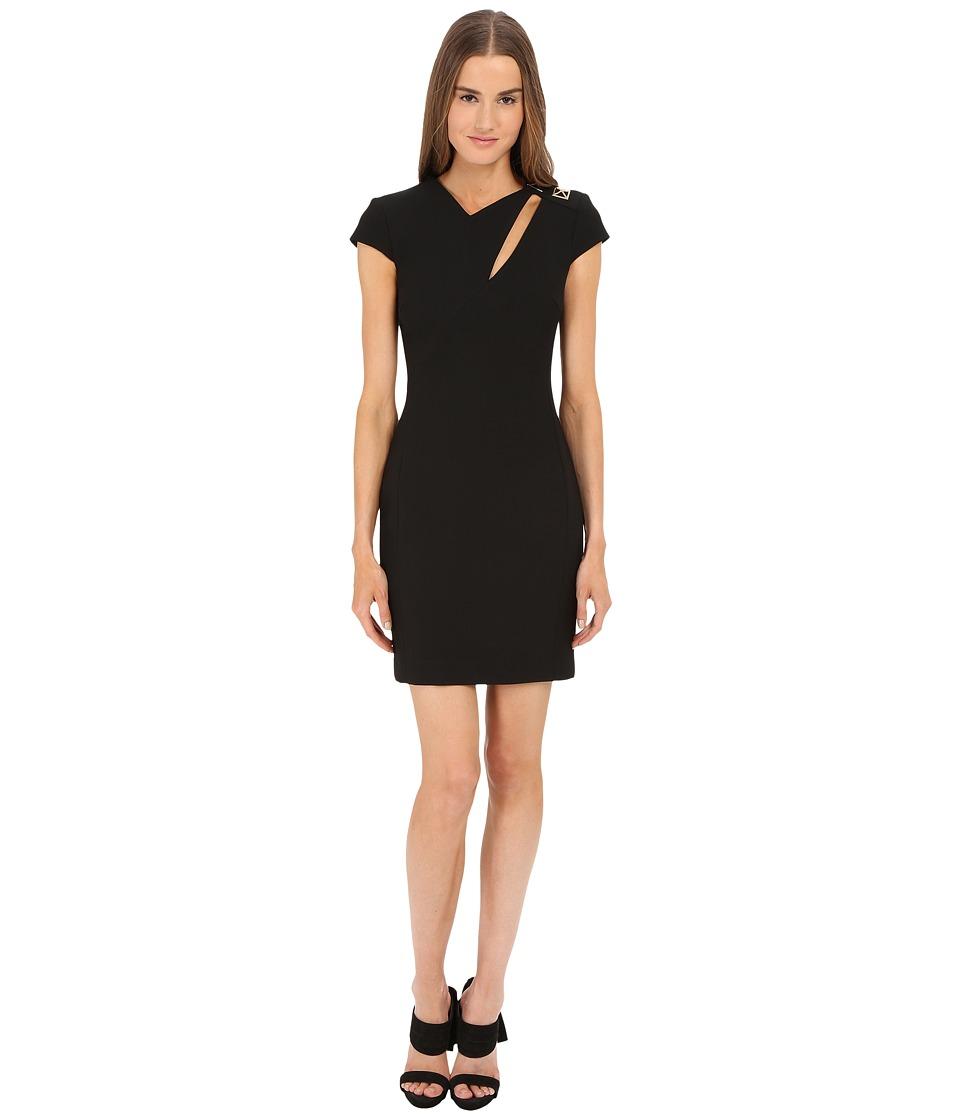 Versace Collection Cap Sleeve Dress w/ Cutout Black Womens Dress