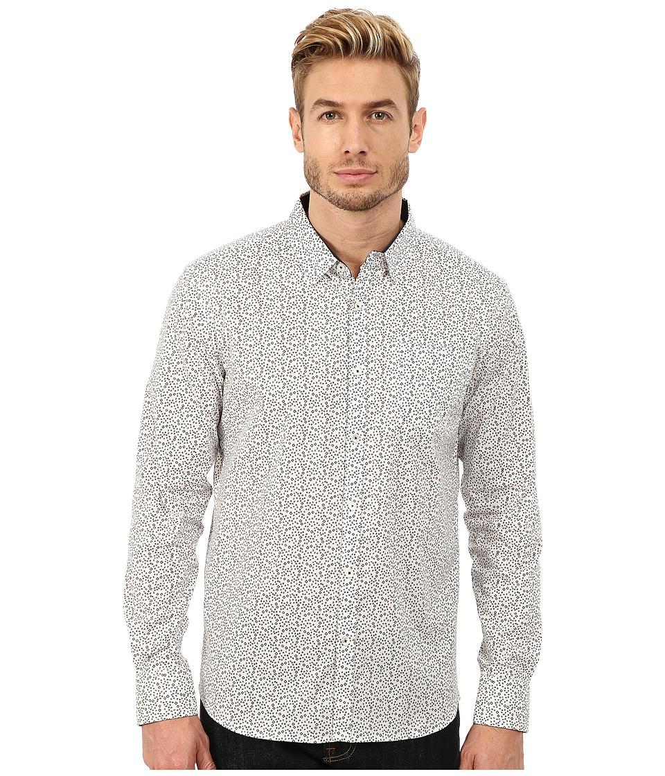 7 Diamonds Blue Moon Long Sleeve Shirt White Mens Long Sleeve Button Up