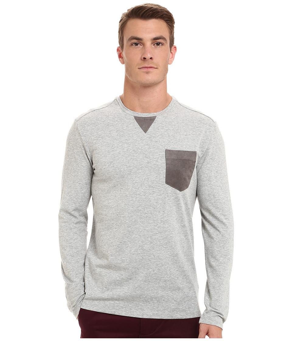 7 Diamonds Cain Long Sleeve Shirt Heather Grey Mens Long Sleeve Pullover
