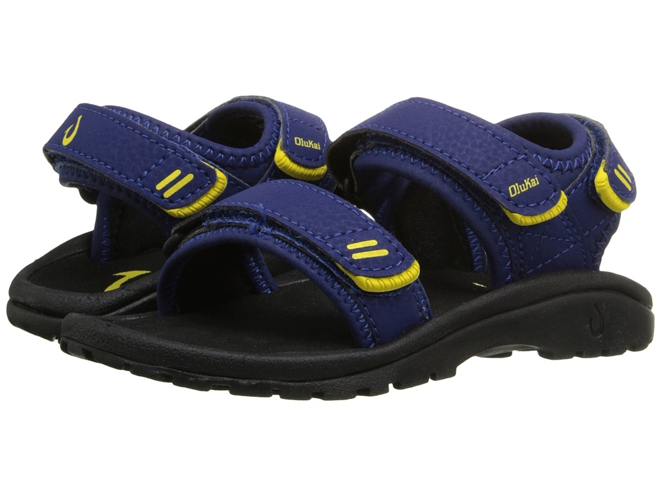 OluKai Kids - Pahu (Toddler/Little Kid/Big Kid) (Sunset Blue/Black) Boys Shoes