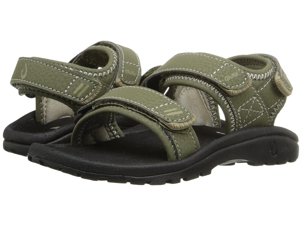 OluKai Kids - Pahu (Toddler/Little Kid/Big Kid) (Leaf/Black) Boys Shoes